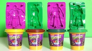 Softee Dough Teenage Mutant Ninja Turtles Figurine Maker Nickelodeon PlayDoh TMNT by FunToys