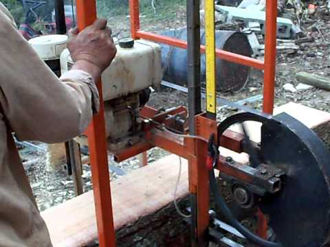 Home Made Saw Mill Diy Band Mill Youtube