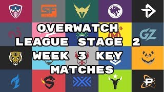 Overwatch League Stage 2 Week 3 Key Matches