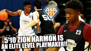 5'10 Zion Harmon HAS ELITE LEVEL PLAYMAKING SKILLS!! | 5-STAR Point Guard SHINES at NBPA Top100