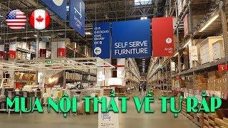 IKEA cửa hàng nội thất lớn ở Mỹ & Canada   Mua ghế ăn về tự lắp   Quang Lê TV #77
