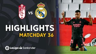 Resumen de Granada CF vs Real Madrid (1-4)