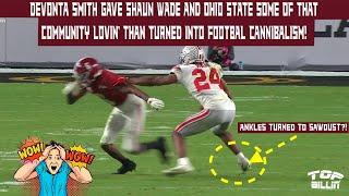 Study: Bama's DeVonta Smith gave Shaun Wade football CANNIBALISM!