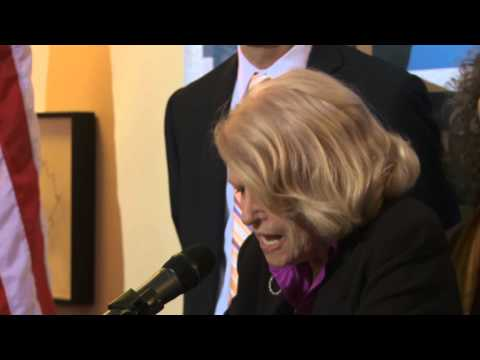 Edie Windsor Speaks at DOMA Decision Press Conference