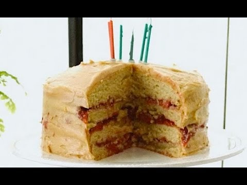 Gluten Free Birthday Cake with Peanut Butter and Merlot Jelly! - Gluten Free with Alex T