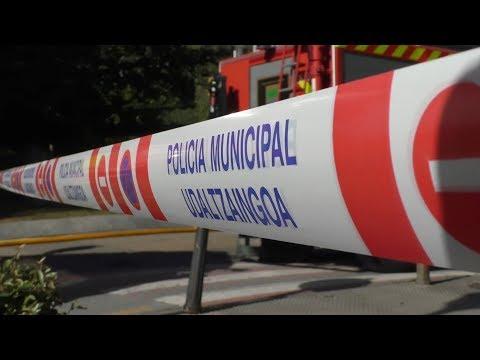 Gas ihesa Tolosako Batxiller Zaldibia kalean