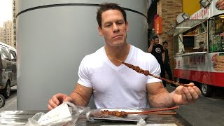 John Cena in China: Fine dining from mobile food carts