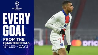 EVERY GOAL from the Quarterfinals | 1st Leg - Day 2 | UCL on CBS Sports