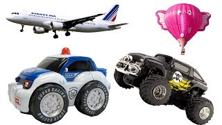 Cars for Kids - Learn Street Vehicles, Trucks, Police Car, Airplanes & Vehicles Names for Children