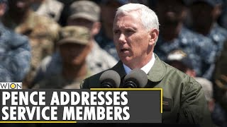 US Vice President Mike Pence addressed a crowd of service members | California | World News | WION