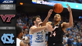 Virginia Tech vs. North Carolina Condensed Game | 2018-19 ACC Basketball