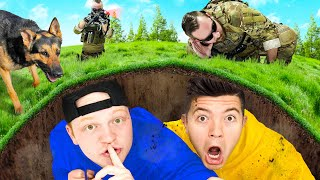 Hiding UNDERGROUND from A SWAT Team! Unspeakable vs Preston