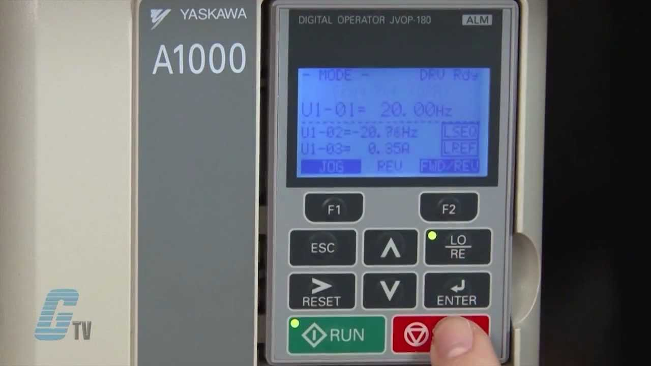Yaskawa A1000 Ac Drive Basic Start Up Using The Keypad