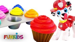 Learn Colors with Paw Patrol Cupcakes Sprinkles & Icing