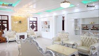 Biệt thự 2 tầng với sắc trắng tinh khôi chủ đạo nhà ông Hòa - Nghệ An