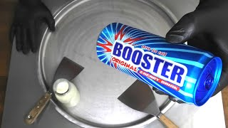 BOOSTER Ice Cream Rolls | how to make Booster Energy Drink rolled Ice Cream - Recipe | Food ASMR