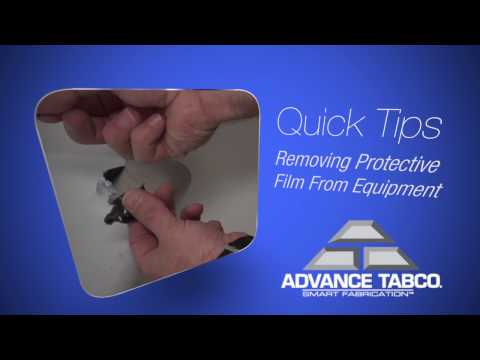 Removing Protective Film from Equipment