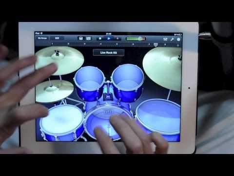Batterista formidabile solo con l' iPad
