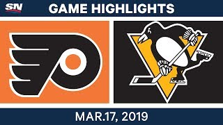 NHL Game Highlights | Flyers vs. Penguins - March 17, 2019