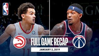 Full Game Recap: Hawks vs Wizards | Beal Scores 24 Points