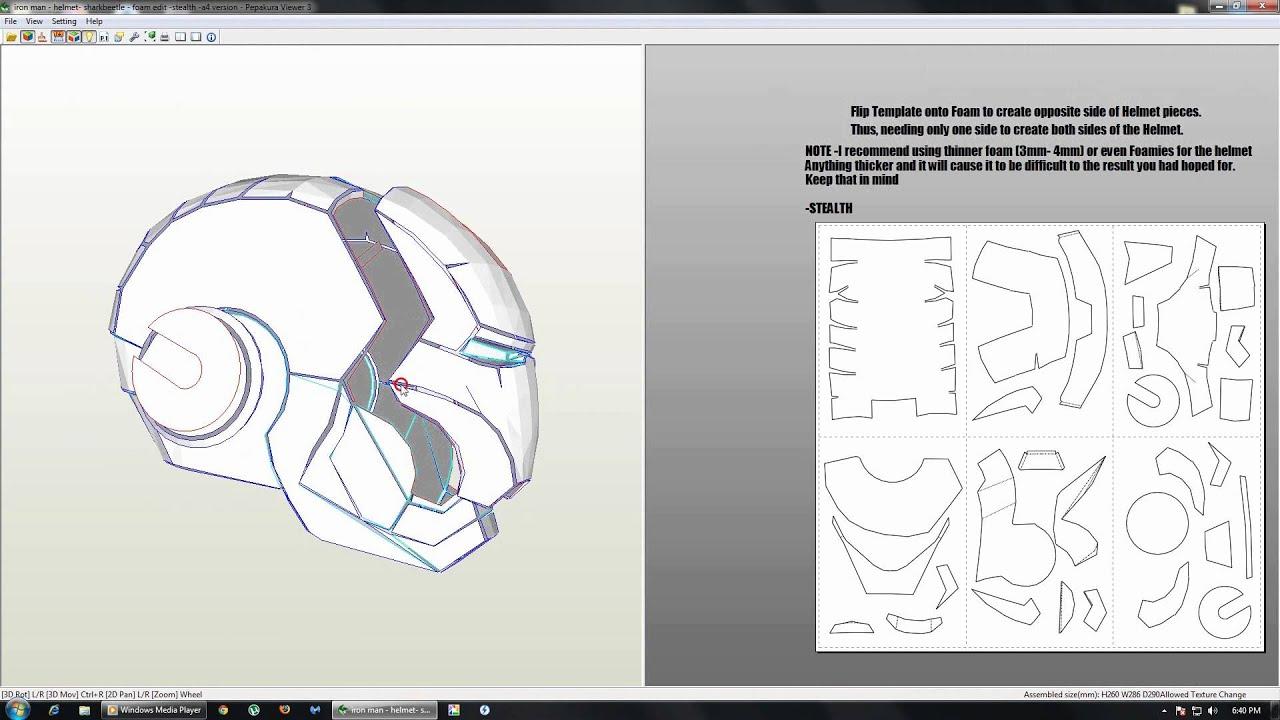 Free pepakura iron man helmet files