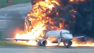 New harrowing video released of deadly Moscow plane fire..