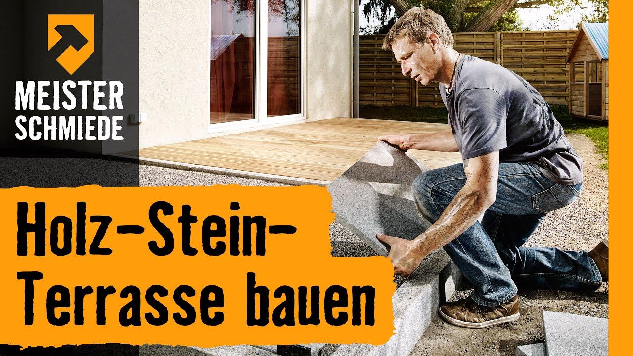 Holz Stein Terrasse Bauen Hornbach Meisterschmiede