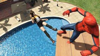 GTA 5 Epic Ragdolls   SPIDERMAN Jumps/Fails ep.24 (Euphoria physics   Funny Moments)