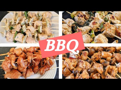 Mediterranean and Caribbean chicken skewers in the oven or barbecue / Succulent!