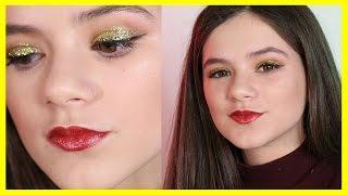 Glittery Gold New Year's Eve Makeup Tutorial |  KITTIESMAMA