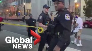 Louisville mayor addresses fatal shooting at Breonna Taylor protest at Jefferson Square Park | LIVE
