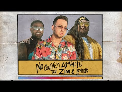 Justin Quiles - No Quiero Amarte (feat. Zion & Lennox) [Official Lyric Video]