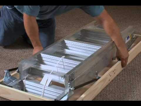 Werner Aluminum Attic Ladder Long Installation Video