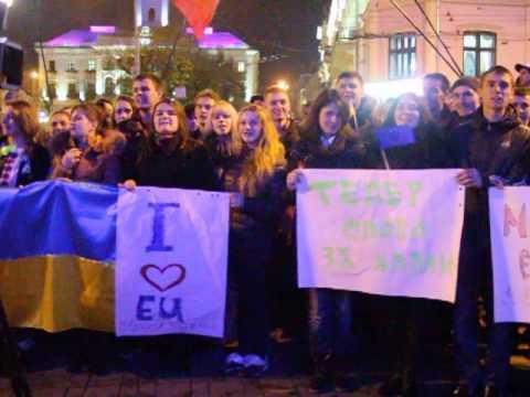 Чернівецькі студенти 22.11 скандували: Україна за ЄС
