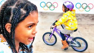 My TWIN BEAT ME!! Olympic CHALLENGE!
