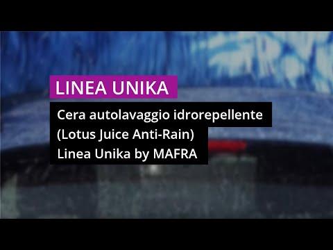 Cera autolavaggio idrorepellente – Lotus Juice LINEA UNIKA Mafra