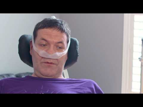 B-roll with audio clips: Canadian Chris McCauley, who is living with ALS in Barrie, Ontario, shares his hopes for Project MinE, an international research initiative that will map the DNA profiles of 22,500 people to learn about the causes of ALS. Canada's participation in Project MinE is being spearheaded by the ALS Society of Canada.