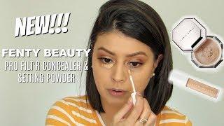 NEW!!! FENTY BEAUTY PRO FILT'R CONCEALER & SETTING POWDER | WEAR TEST REVIEW