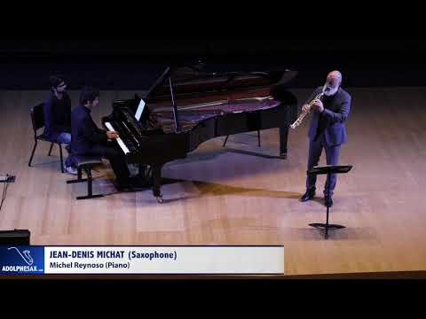 Francis Poulenc - Sonata for Oboe (Sax Sopr) and Piano. Saxophone: Jean-Denis Michat