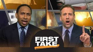 Stephen A. and Max debate: Warriors' injuries to blame if Rockets win title? | First Take | ESPN