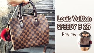 Louis Vuitton Speedy Bandouliere 25 Review, Mod Shots, Pros and Cons,Speedy B 25,Damier Ebene