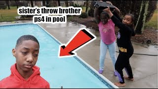 MIRAH & KAM THREW JAY PS4 IN THE POOL PRANK!