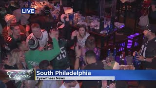 Eagles Fans At Chickie's & Pete's Soar With Joy After Eagles Win