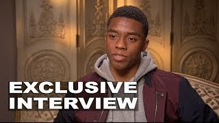 "Get on Up: Chadwick Boseman ""James Brown"" On Set Movie Interview Part 1 of 2"