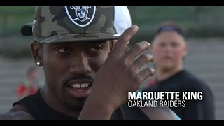 NFL Punter Marquette King Demonstrates at Kohl's Kicking Elite Camp