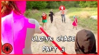 Scary Killer clown chase final Part 3 Superhero Kids