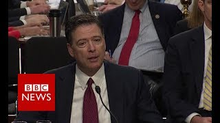 James Comey hearings: Fired FBI boss responds to Trump's 'tapes' tweet - BBC News
