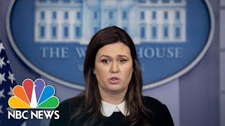 Sanders Says FBI 'Ambushed' Flynn, Brands Cohen 'A Liar' | NBC News