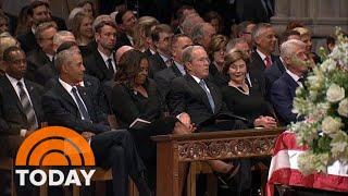 Michelle Obama Explains Viral Cough Drop Moment With George W. Bush | TODAY