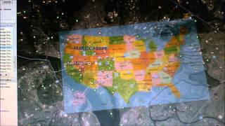 Day of the LORD mapped out Showing where the Nukes Fall.New Madrid fault line.
